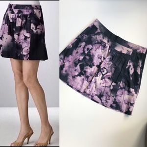 Theory Vlaros Pleated Floral Skirt 8
